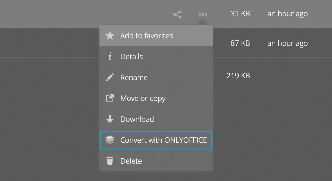 Convert with ONLYOFFICE.