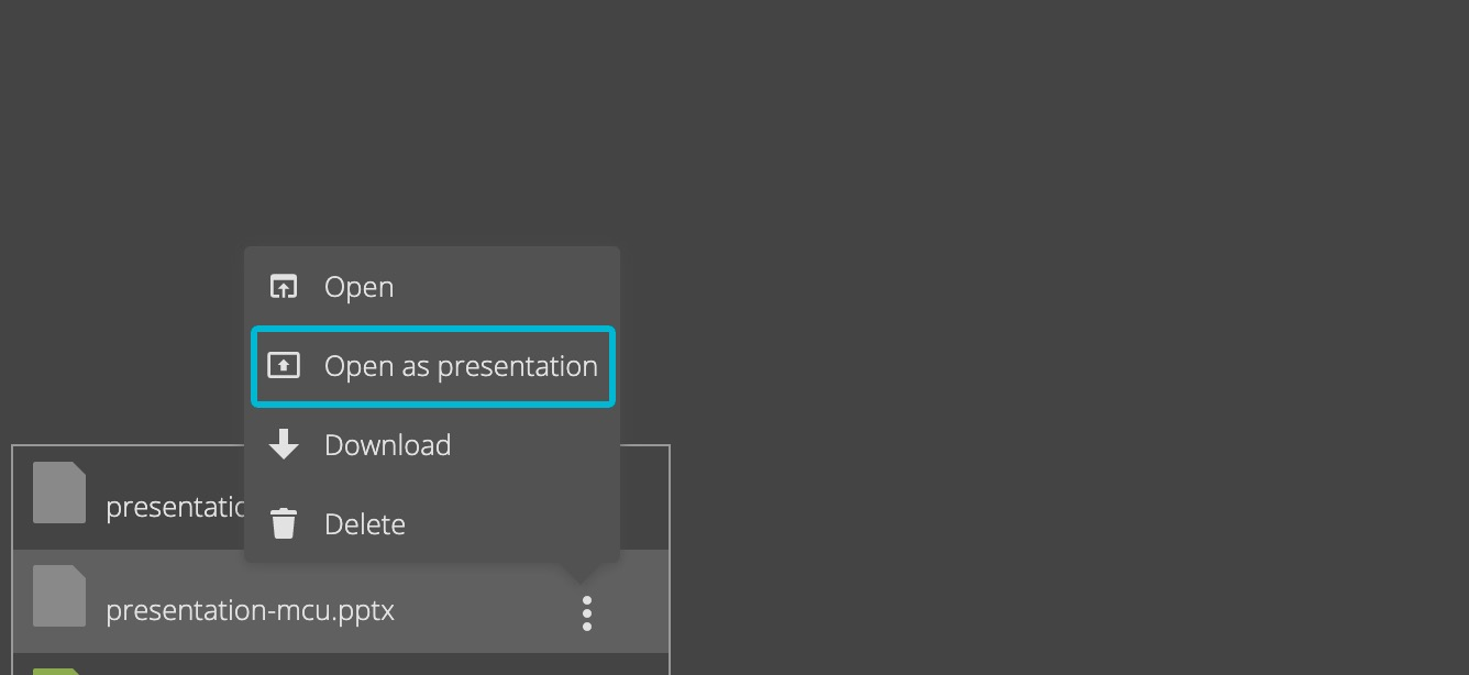 Show files as presentation.